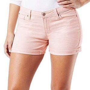 [Levi's] Signature blush pink high rise shorts.